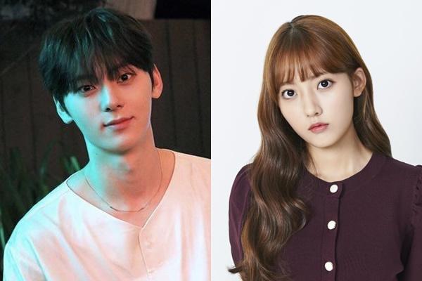 มินฮยอน(Minhyun) วง NU'EST และจองดาบิน(Jung Da Bin)