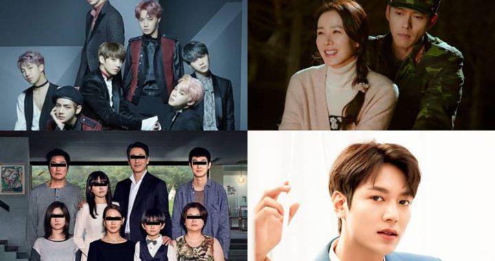 คอนเทนต์เกาหลีและนักแสดงเกาหลีที่ได้รับความนิยมจากผลสำรวจในต่างประเทศ